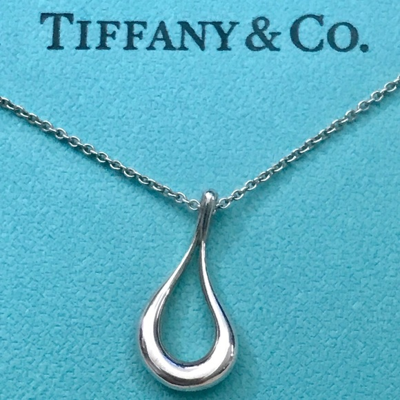 Tiffany & Co. Jewelry - Tiffany & Co. Elsa Peretti Open Tear Necklace 18""